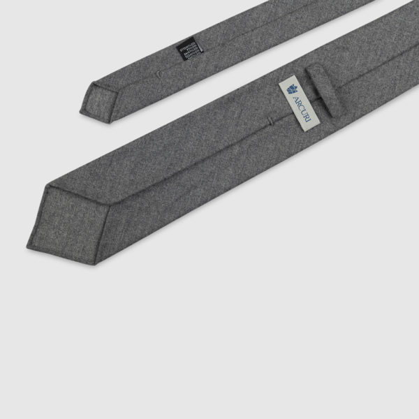 Cravatta 3 Pieghe 100% Lana Grigia
