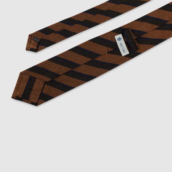 Cravatta Regimental 3 Pieghe 100% Seta