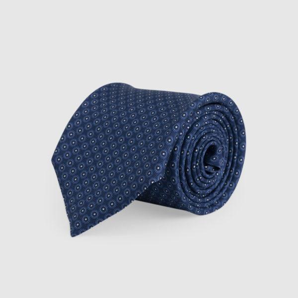 Blue navy 3-Fold Silk Tie