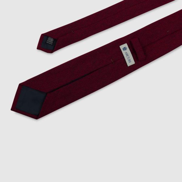 Cravatta 3 Pieghe 100% Cashmere Rosso