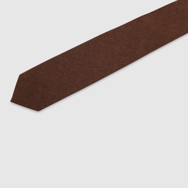 Cravatta 3 Pieghe 100% Cashmere Arancio