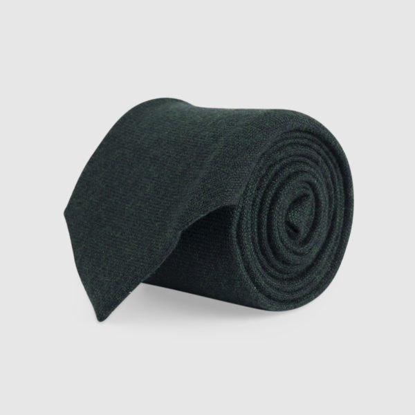 Cravatta 3 Pieghe 100% Cashmere Verde