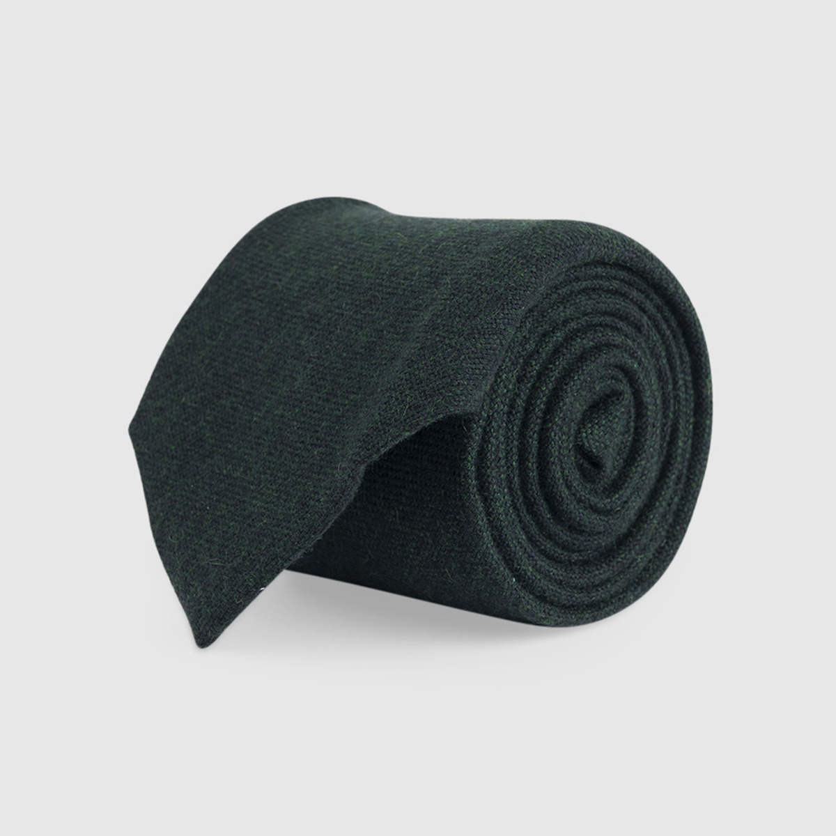 Green 3-Fold Cashmere Tie