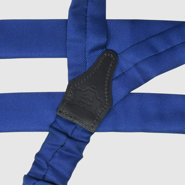 Bretelle in seta Blu royal