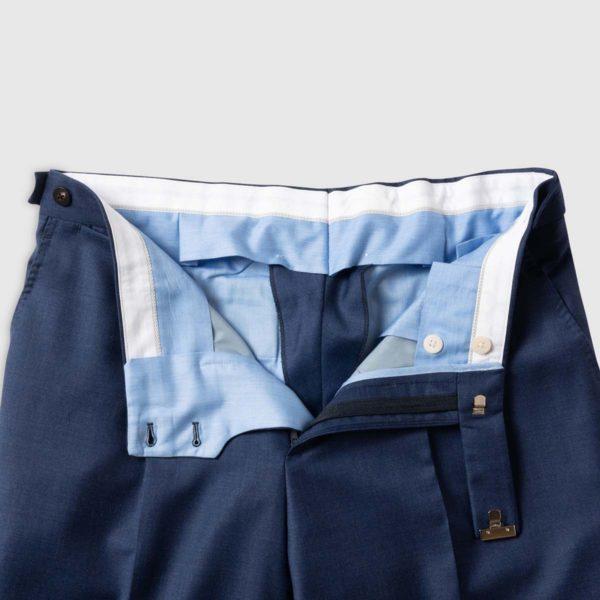 Pantalone Blu 1 pince in Lana 150's