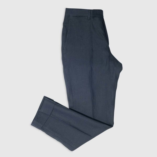 Pantalone in Lino Irlandese Blu