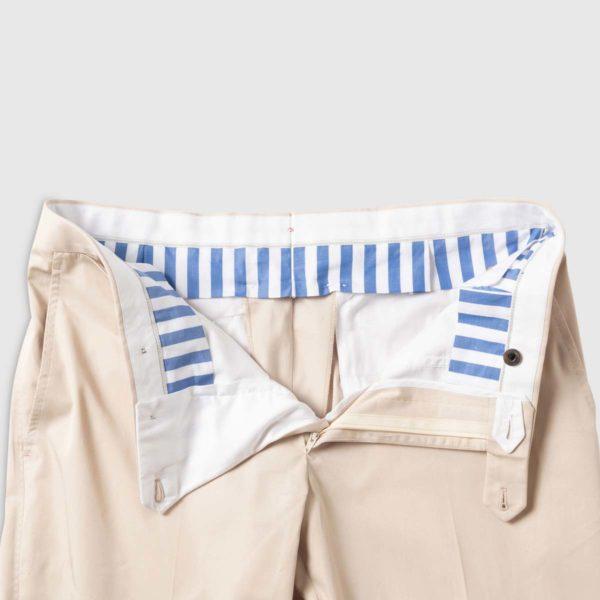 Pantalone Classico in Cotone Panna