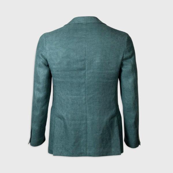 Giacca monopetto 100% Lana  – Verde