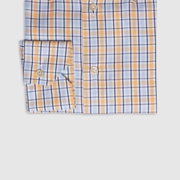 Camicia Check Arancione Celeste Button Down