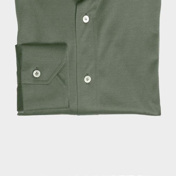 Camicia in Jersey di Cotone Verde oliva