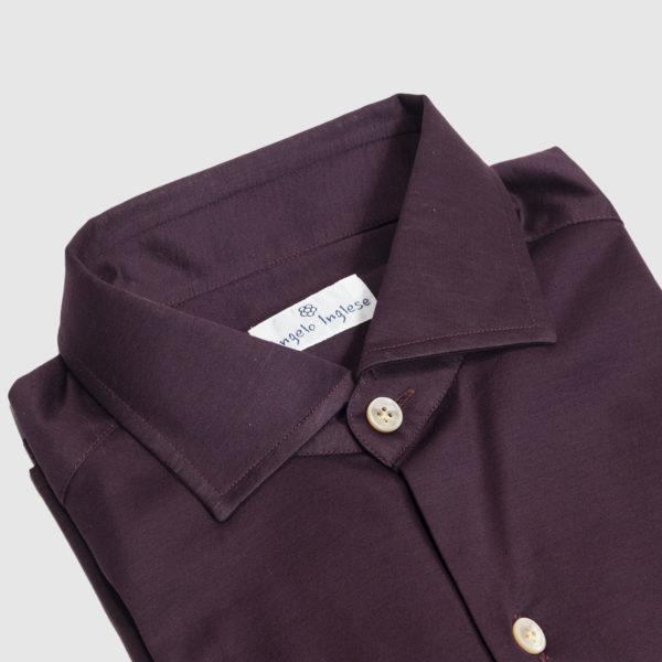 Camicia in Jersey di Cotone Viola