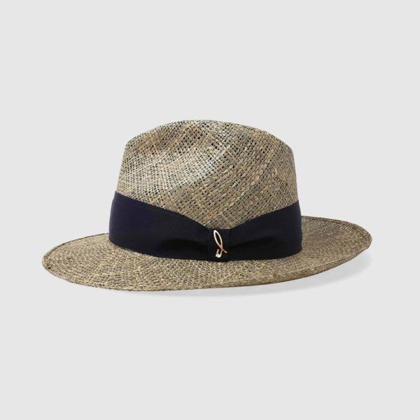 Cappello Drop in Paglia di Mare con Cinta blu
