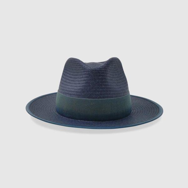 Cappello Drop in Panama Cuenca – Blu Prussia