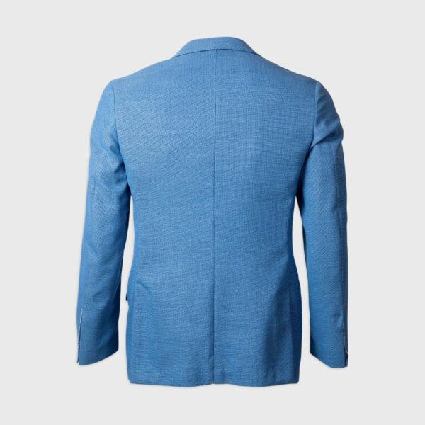 Giacca Monopetto semi-foderata 100% Lana Drago – Azzurro