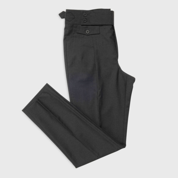 Pantalone Grigio 2 Pinces in Lana 100s