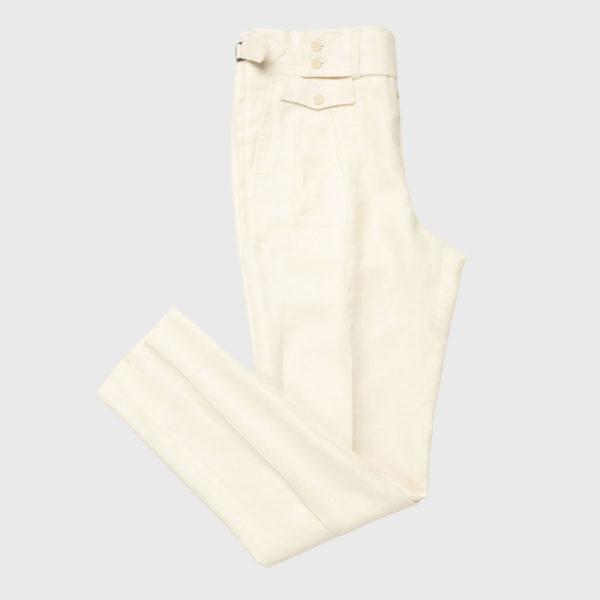 Pantalone Panna 2 Pinces in Lino/Lana Super 120's
