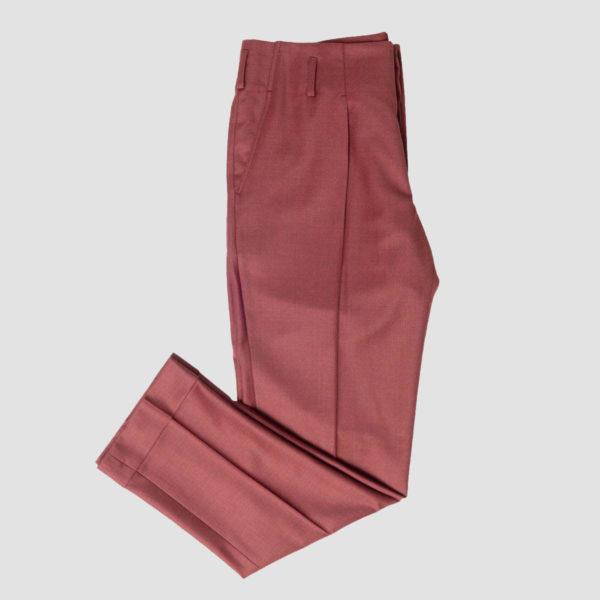 Pantaloni amaranto 1 Pince Lana 150'S