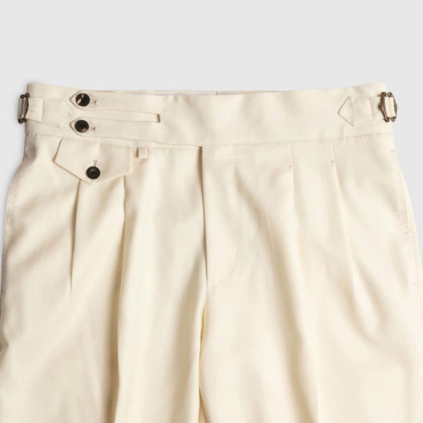Pantalone Panna 2 pinces in Lana Super 150's