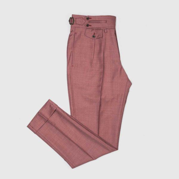 Pantaloni Borgogna 2 Pinces in Lana 150'S