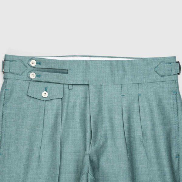 Pantaloni Blu Cadetto 2 Pinces in Lana 150'S