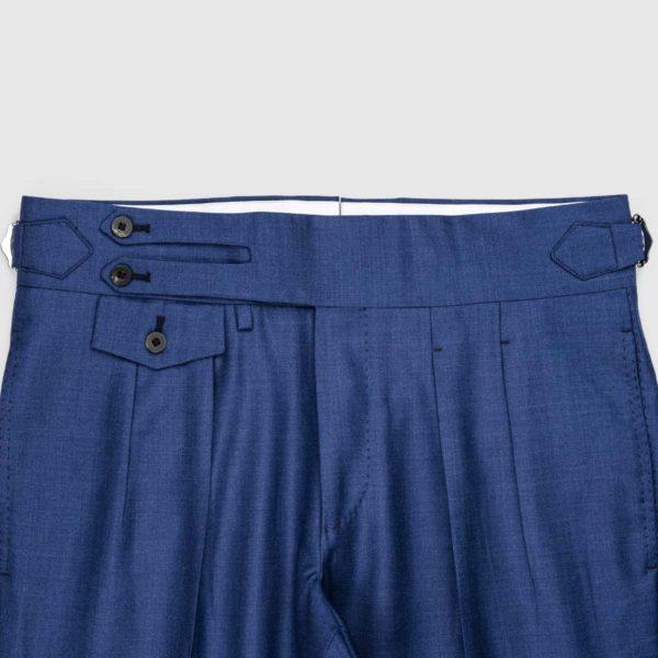 Pantaloni Blu chiaro 2 Pinces in Lana 150'S