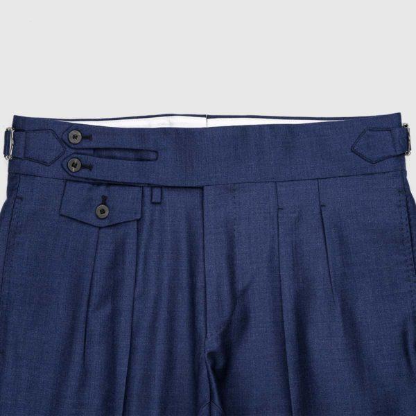 Pantaloni Blu 2 Pinces in Lana 150'S