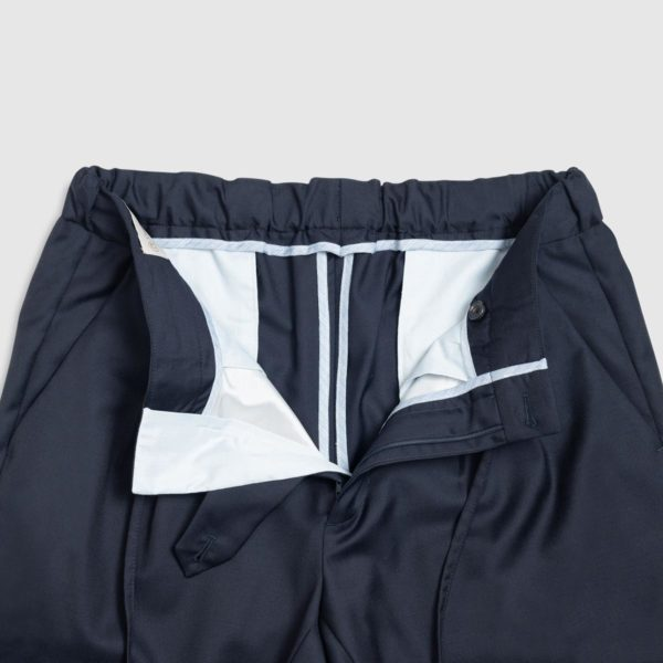 Pantaloni Jogging 2 Pinces in Lana – Blu