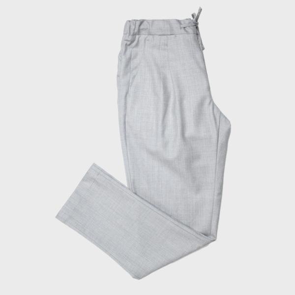 Pantalone Jogging 2 Pinces in Lana Drago – Grigio