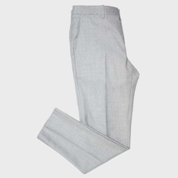 Pantalone classico in Lana Drago Grigio Chiaro