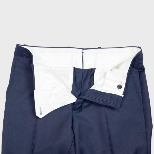 Pantalone classico in Lana Drago –  Blu