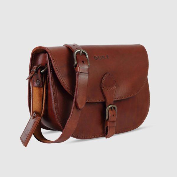 Minimal Shoulder Bag – Havana Leather
