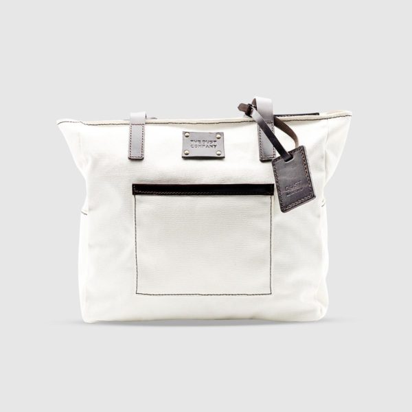 Water-repellent Cotton Tote Bag – White