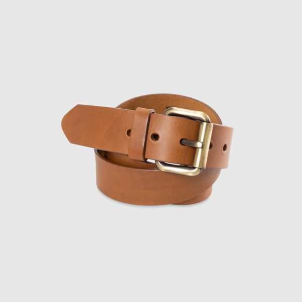 Genuine Tuscan Leather Belt – Light Brown Leather