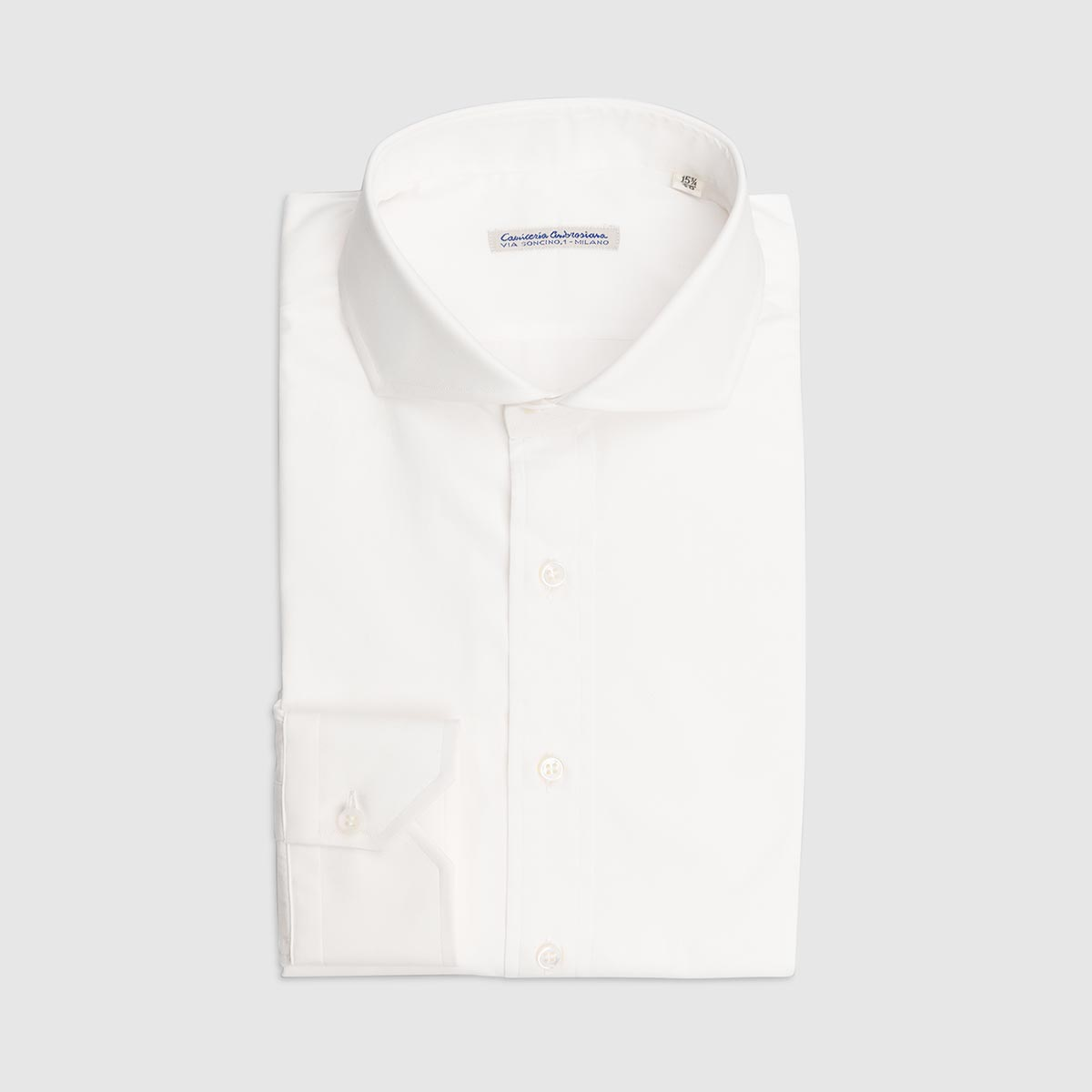 100% Double Twisted Popeline Cotton Shirt – White