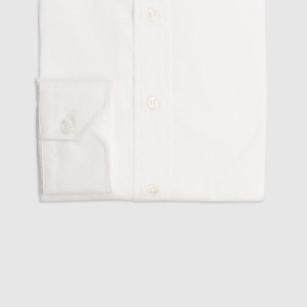 Camicia Popeline di Cotone Doppio Ritorto in Bianco