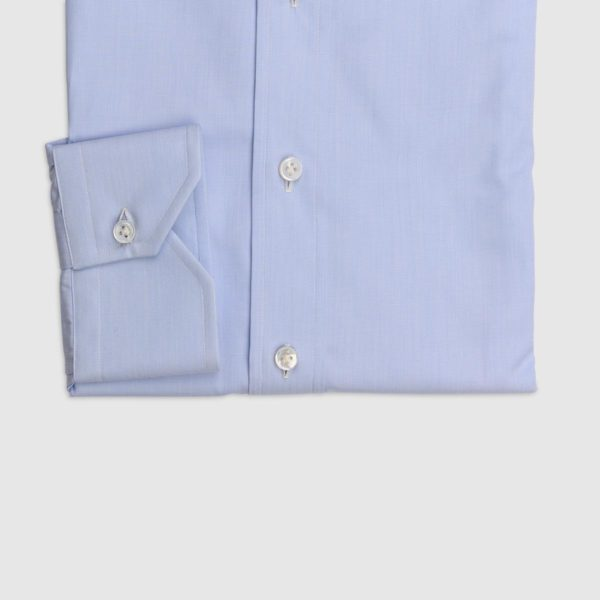 100% Double Twisted Popeline Cotton Shirt – Light Blue