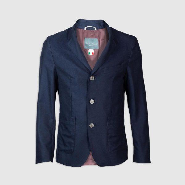 Giacca in 100% Cashmere Blu