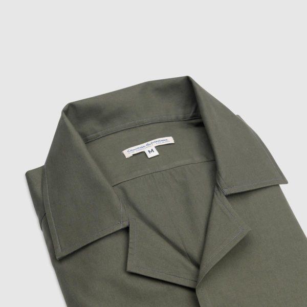 Overshirt Verde Khaki in 100% Cotone Doppio Ritorto