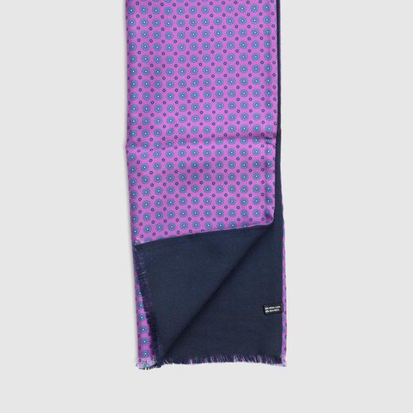 Sciarpa in Seta/lana Con Disegni Floreali