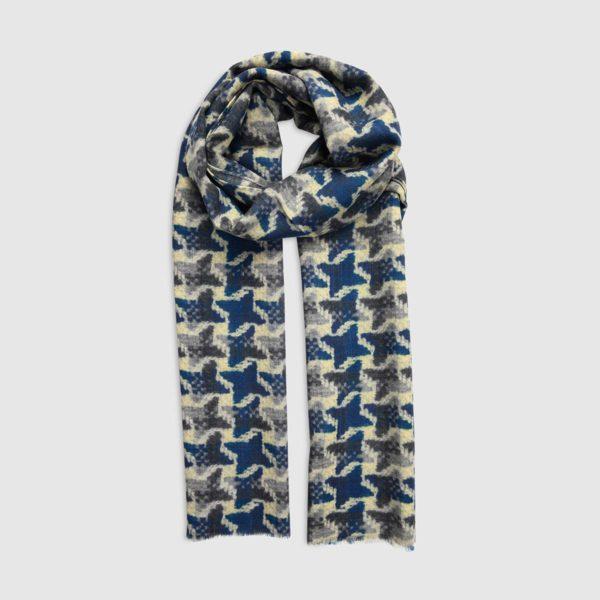 Wool Scarf with Geometric Design