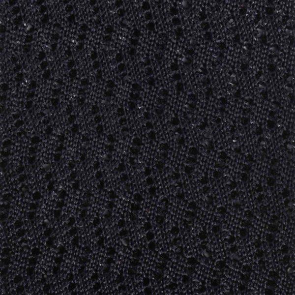 Black Knitted Tie, Zig Zag Stitch